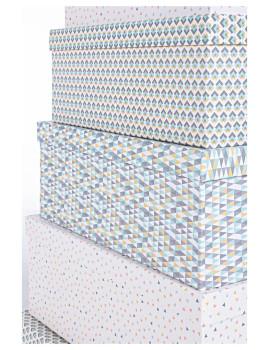 imagem de Set12 Caixas Triângulo Retangulares Azul2