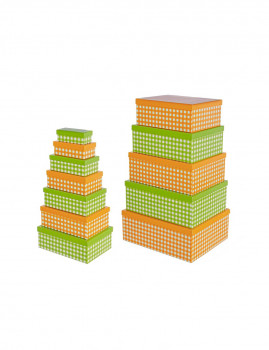 imagem de Set12 Caixas Retangulares Verde E Laranja1