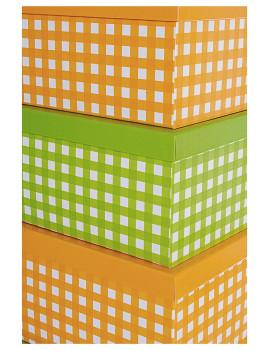 imagem de Set12 Caixas Retangulares Verde E Laranja2