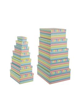 imagem de Set12 Caixas  Magic Retangulares Multicor1