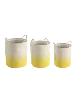 imagem de Set3 Cestos Shadow Redondos Amarelos1