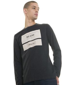 Longsleeve Big Star Jeans Ganga  escura Cinza
