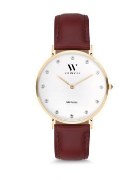 Relógio Love Watch LW3020 Castanho e Dourado