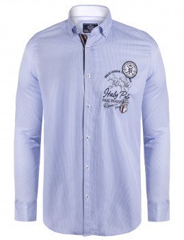 Camisa Paul Parker Riscas Azuis