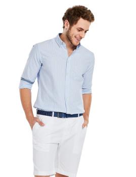 Camisa Manga Comprida Alapaha Smile Azul Claro