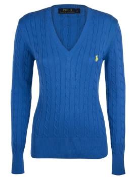 Pullover Entrançado Ralph Lauren V Senhora Azul Sax