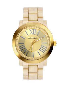 Relógio Mark Maddox Branco e Dourado Senhora
