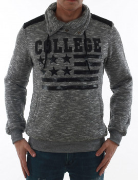 Sweatshirt Glo Story Men Cinza