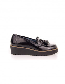 Sapato Pele Oxford Mulher Clara Garcia Preto