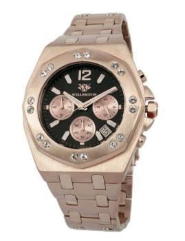 Relógio Wellington Darfield Dourado Rosa