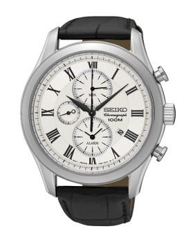 Relógio Seiko Alarm Chronograph Classic Prateado, Preto e Cinza