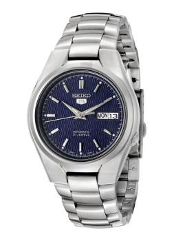 Relógio Seiko 5 Gent Prateado e Azul