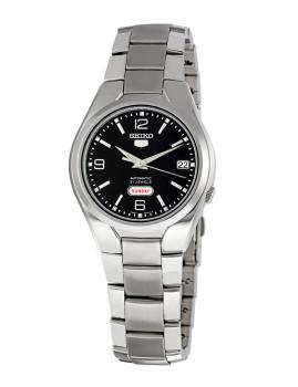 Relógio Seiko 5 Gent Classic Prateado e Preto