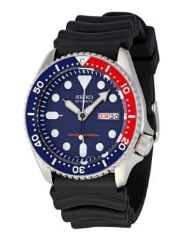 Relógio Seiko C/ Data - Mostrador Azul e Vermelho