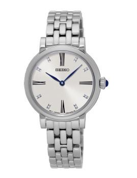Relógio Seiko Quartz Classic Prateado e Cinza