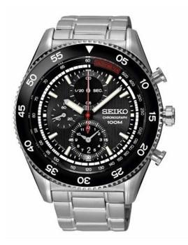 Relógio Seiko Quartz Classic Prateado e Preto