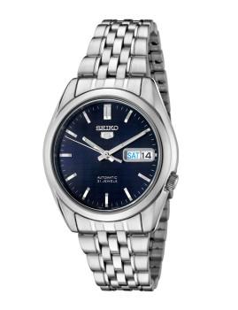 Relógio Seiko 5 Gent Classic Prateado e Azul