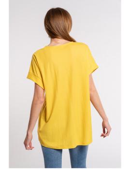 imagem de T-Shirt Senhora Amarelo3