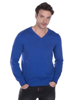 Pullover Giorgio di Mare Azul Sax e Preto
