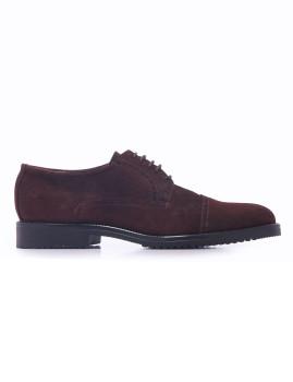 Sapato Oxford Picados Serraje Homem Castanho