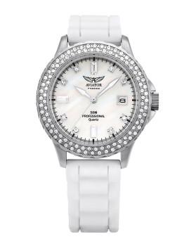 Relógio Senhora Aviator Branco