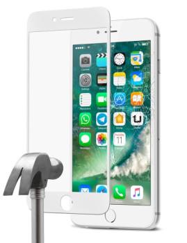 Protetor de Ecrã em vidro Temperado Proteção Completa para iPhone 7 Branco