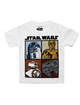 T-shirt Droids And Ships Menino Branca