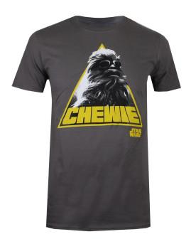 T-Shirt Homem Star Wars Chewie Triangle Cinza Escuro