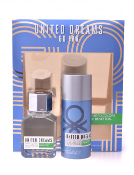 Coffret Benetton United Dreams Go Far For Men Lote 2 produtos