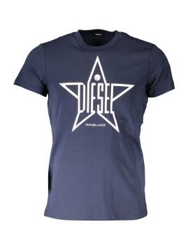 imagem de T-shirt Homem Azul1