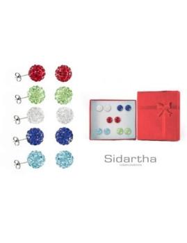 Conjunto Brincos Brilhantes Multicolor I