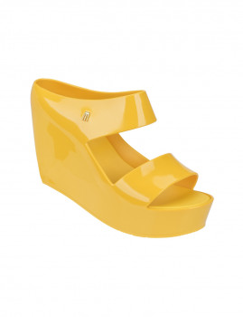 Sandálias de Salto Melissa Creatives Wedge Amarelo
