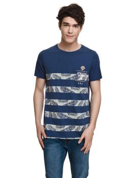 T-shirt Varsity Azul Marinho