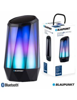 Coluna Bluetooth Blaupunkt Crystal Effect 5W LEDS RGB c/ Leitor MicroSD