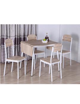 imagem de Conjunto Mesa extensível + 4 cadeiras Estoril Carvalho claro2