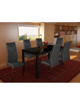 imagem de Pack 4 Cadeiras Pretty Cinza2