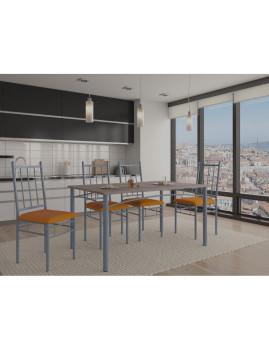 imagem de Conjunto Jack Mesa + 4 Cadeiras Carvalho1