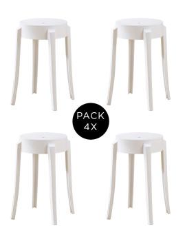 imagem de Pack 4 Bancos JUMP Branco1