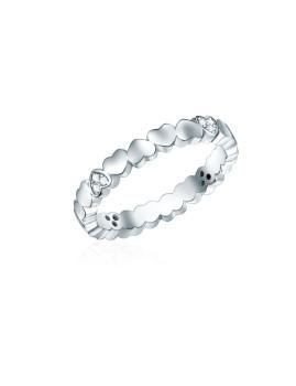 Anel em Prata com Zirconia Branco
