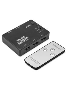 Switch Hdmi 3X Com Comando A Distância