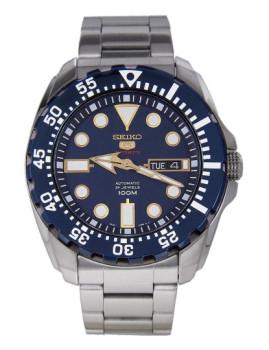 Relógio Seiko 5 Sports Casual Prateado E Azul Homem