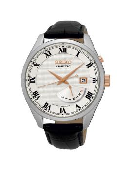 Relógio Seiko Classic Preto e Creme Homem