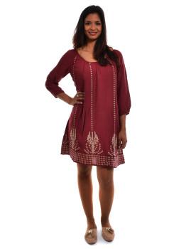 Vestido Ada Gatti Burgundy