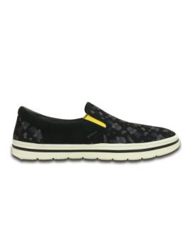 imagem de Slippers Crocs Norlin Summer Fun Slip-On Preta E Branco2