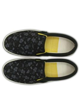imagem de Slippers Crocs Norlin Summer Fun Slip-On Preta E Branco3