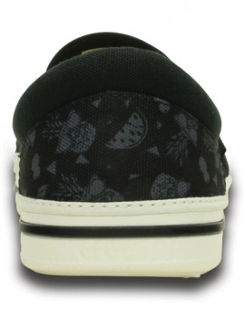 imagem de Slippers Crocs Norlin Summer Fun Slip-On Preta E Branco5