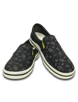 imagem de Slippers Crocs Norlin Summer Fun Slip-On Preta E Branco6
