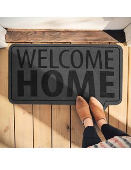 Tapete para a porta de casa: WelcomeHome em cinzento