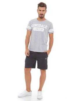 Conjunto T-shirt e Calções Lonsdale Cinza Mesclado e Antracite