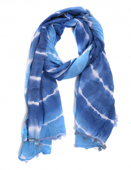 Echarpe  Ada Gatti Tie Dye Azul